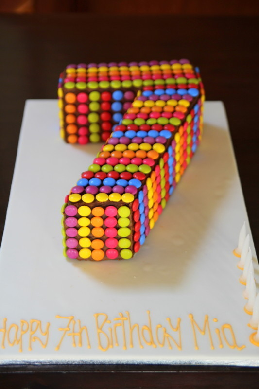 Cake Design For 7th Birthday Girl : Number Cakes - Emma Townsend Cakes Sydney