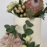 native flowers wedding cake fondant buttercream luxe